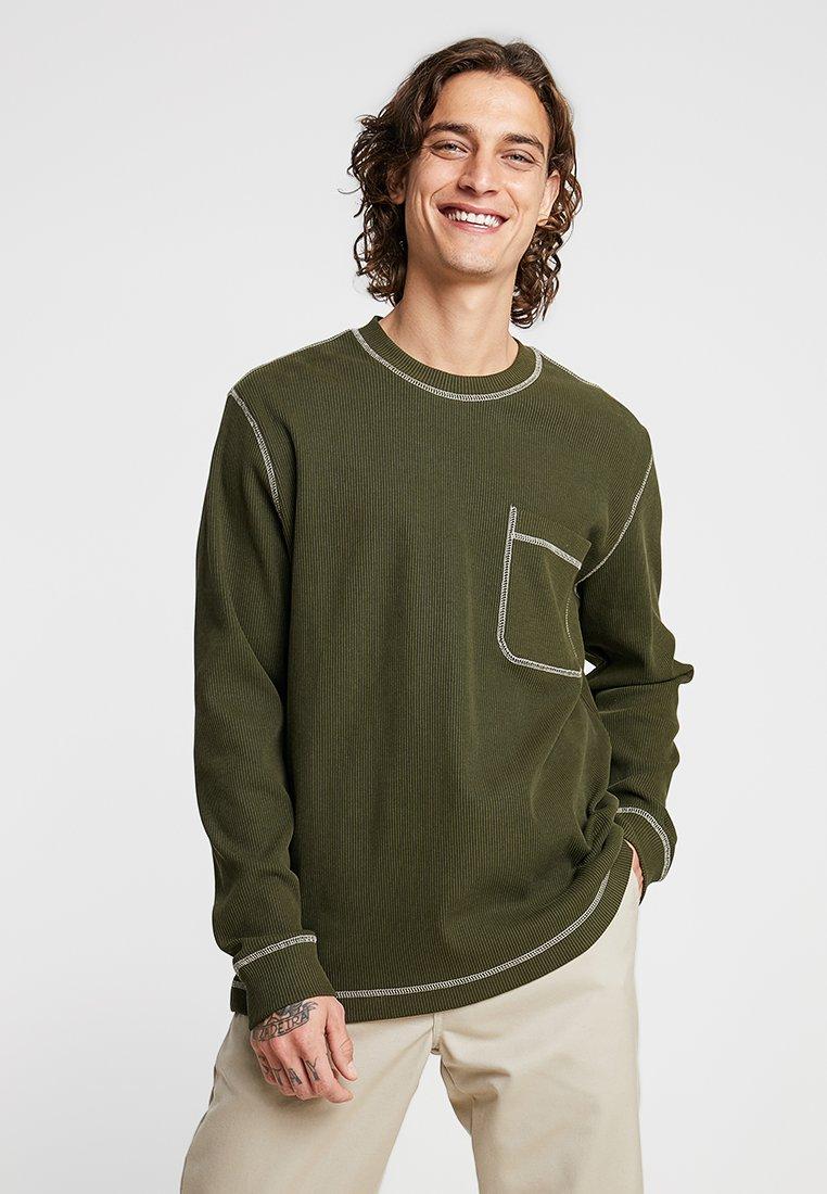 Weekday - CHICKA LONGSLEEVE - Bluzka z długim rękawem - dark green