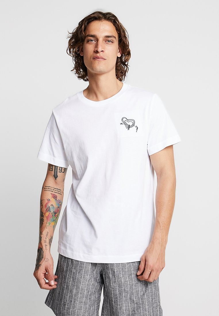 Weekday - PICTOR TOABOA - T-Shirt print - white