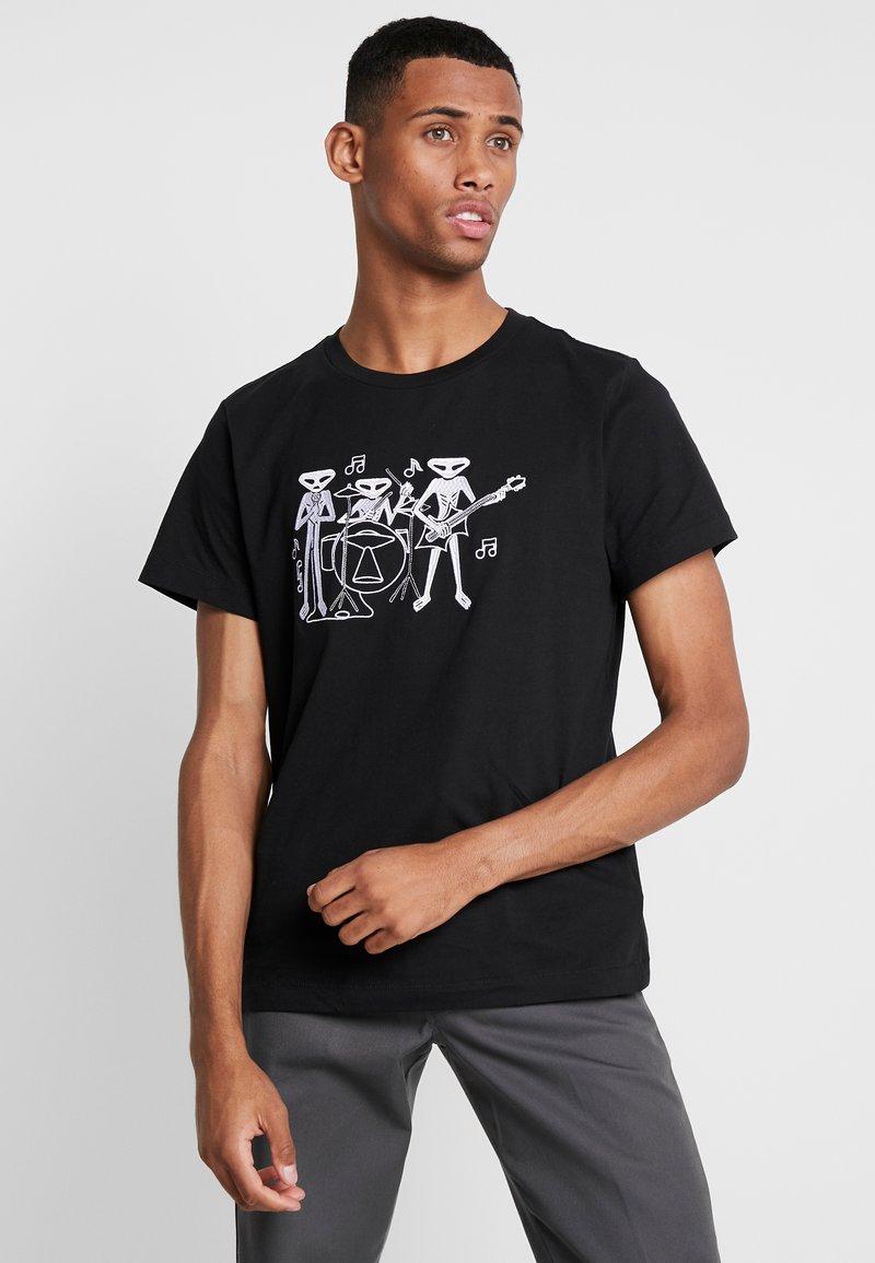 Weekday - PICTOR ALIEN - Print T-shirt - black
