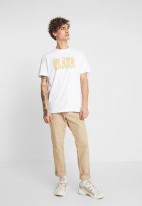 Weekday - BILLY PLAYA GRANDE - T-shirt print - white - 1