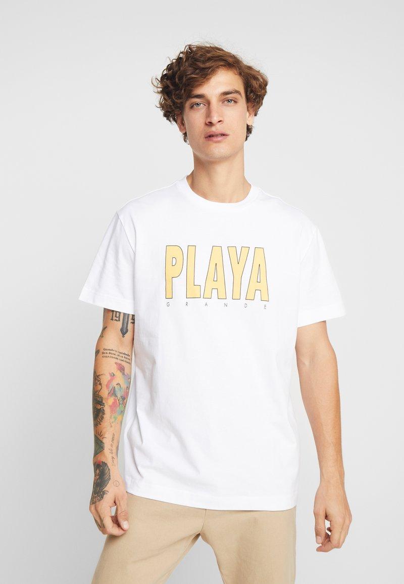 Weekday - BILLY PLAYA GRANDE - T-shirt print - white