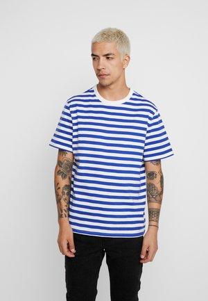 GABRIEL STRIPED - T-shirt con stampa - blue