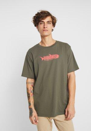 FRANK BAHAMAS  - T-shirt imprimé - khaki green