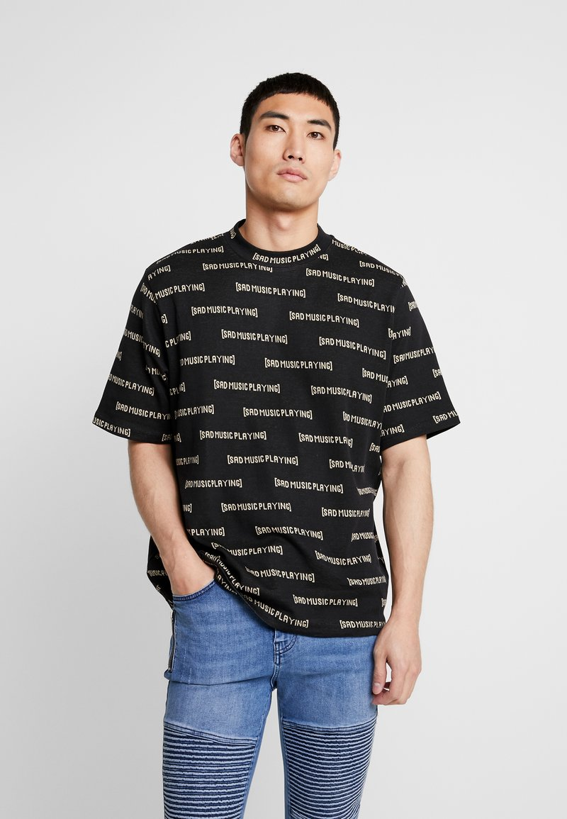 Weekday - LEN SAD LINES - T-Shirt print - black