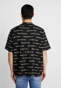 Weekday - LEN SAD LINES - T-Shirt print - black - 2