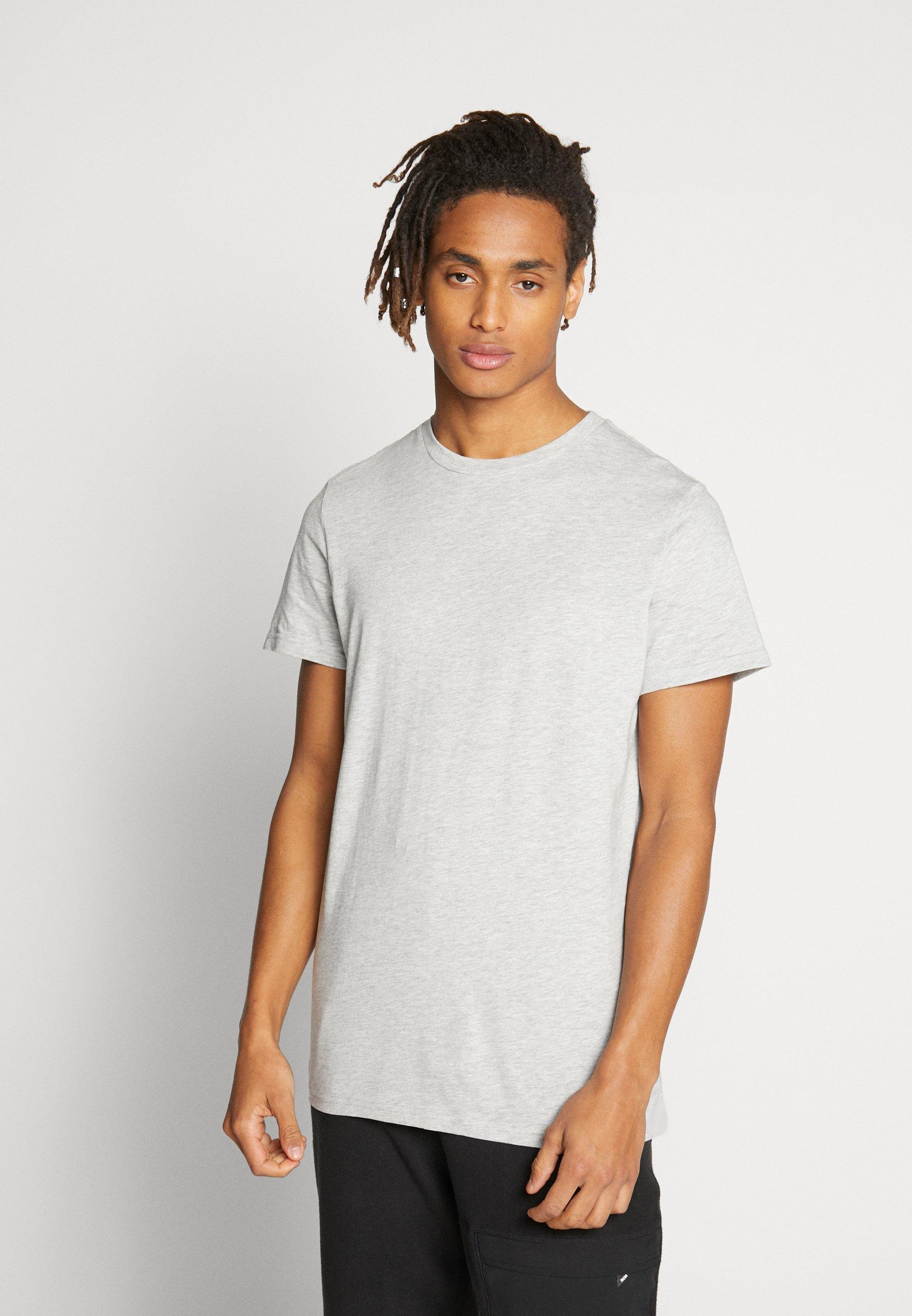 Weekday ALAN - T-shirt basic - grey mélange