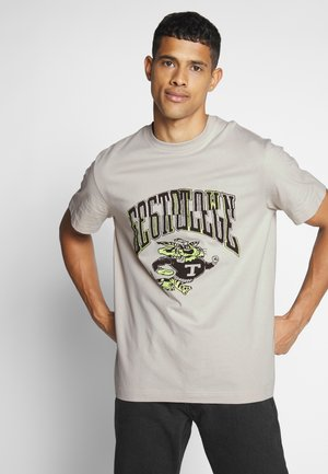 BILLY TIGER COLLEGE  - Print T-shirt - beige