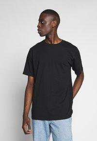 Weekday - 2 PACK FRANK - Basic T-shirt - black/turqoiuse - 3