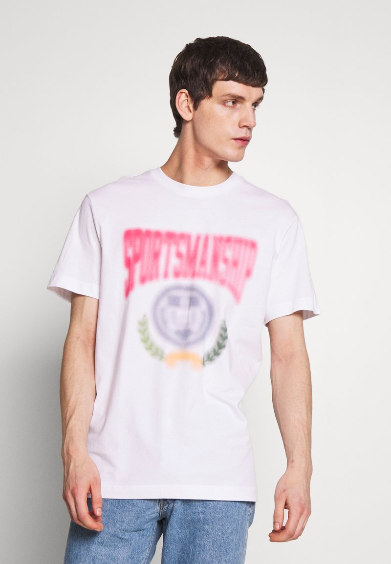 Weekday - BILLY SPORTMANSHIP - T-shirt print - white