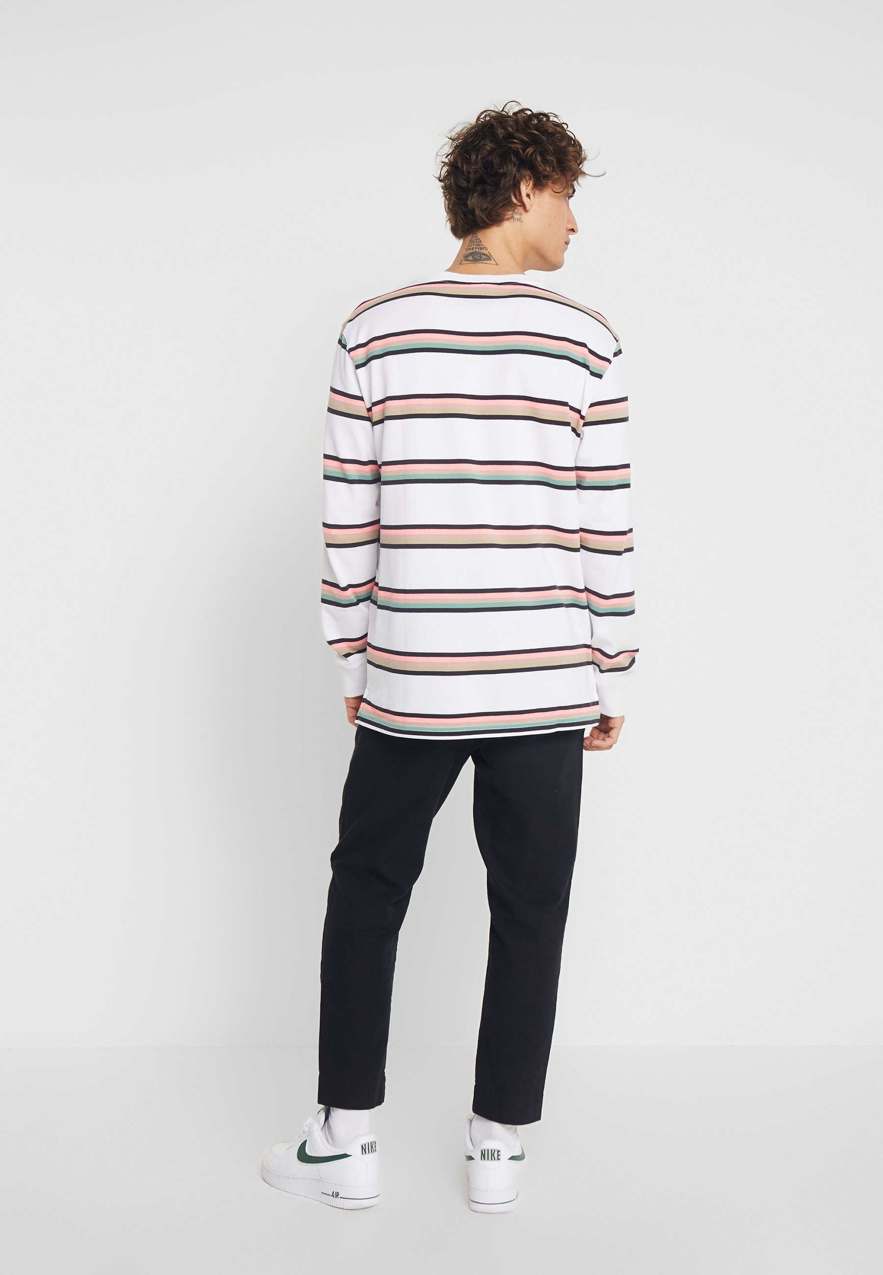Manches À shirt White Weekday Amped StripedT Longues TlJ3FK1c