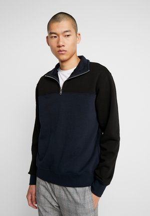 MARKUS BLOCKED  - Sweatshirt - black/navy