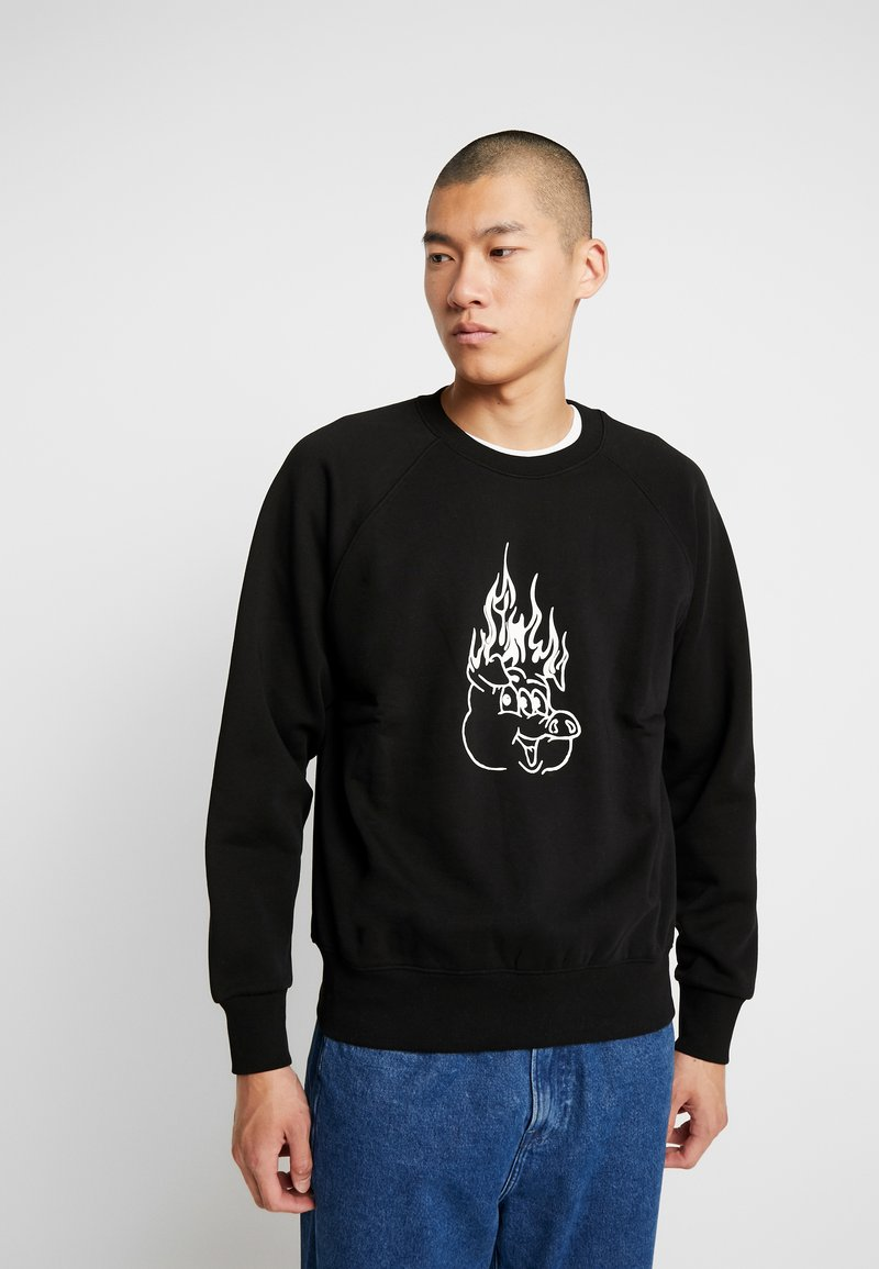 Weekday - ROMANO BURNING PIG  - Sweatshirt - black