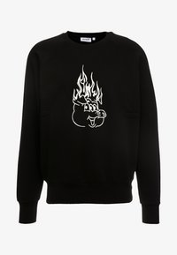 Weekday - ROMANO BURNING PIG  - Sweatshirt - black - 3