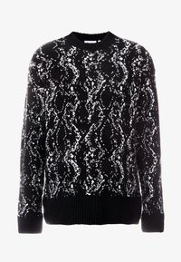 Weekday - ROMEO PYTHON SWEATER - Svetr - black - 4