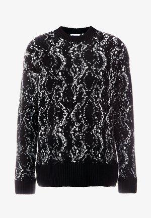 ROMEO PYTHON SWEATER - Pullover - black