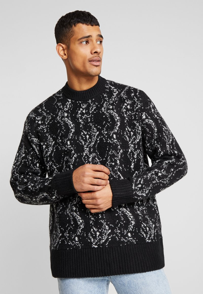 Weekday - ROMEO PYTHON SWEATER - Svetr - black