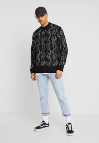 Weekday - ROMEO PYTHON SWEATER - Svetr - black - 1
