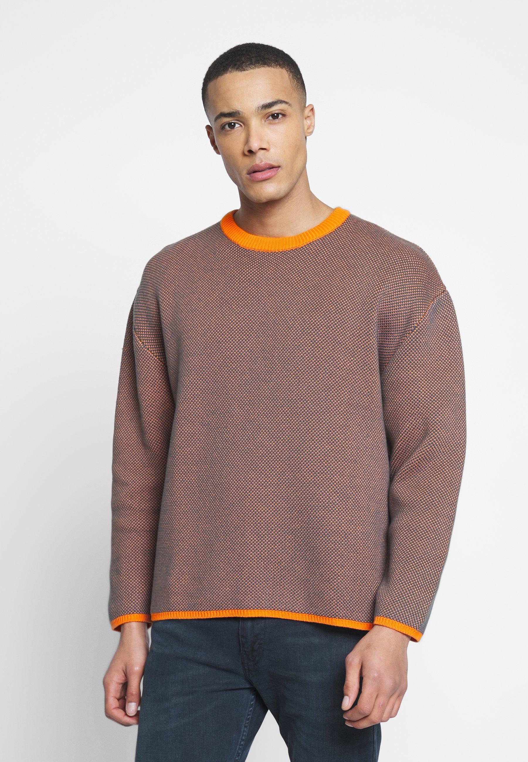 Weekday HARRIS SWEATER - Sweter - orange/green
