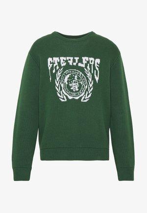 JOHAN UNI SWEATER - Stickad tröja - green dark