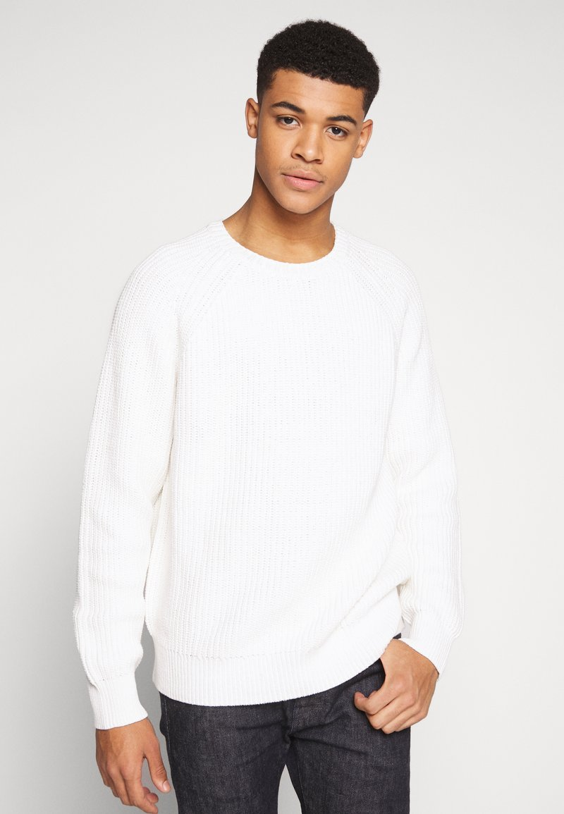 Weekday - STERLING SWEATER - Strickpullover - white