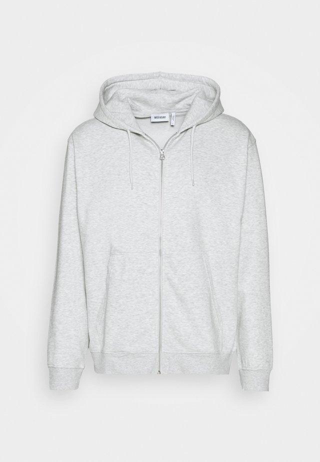 STANDARD ZIP HOODIE - Collegetakki - light grey melange