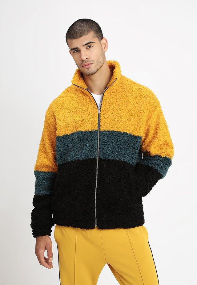 TOD PILE JACKET - Lett jakke - yellow/petrol/black