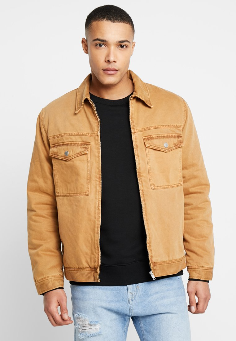 Weekday - GRIFFITH QUILTED JACKET - Jeansjacke - terracotta