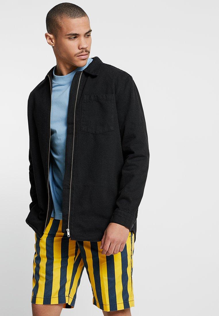 Weekday - ZIP TUNED  - Denim jacket - tuned black