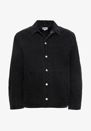 JESS QUILTED JACKET - Džínová bunda - black