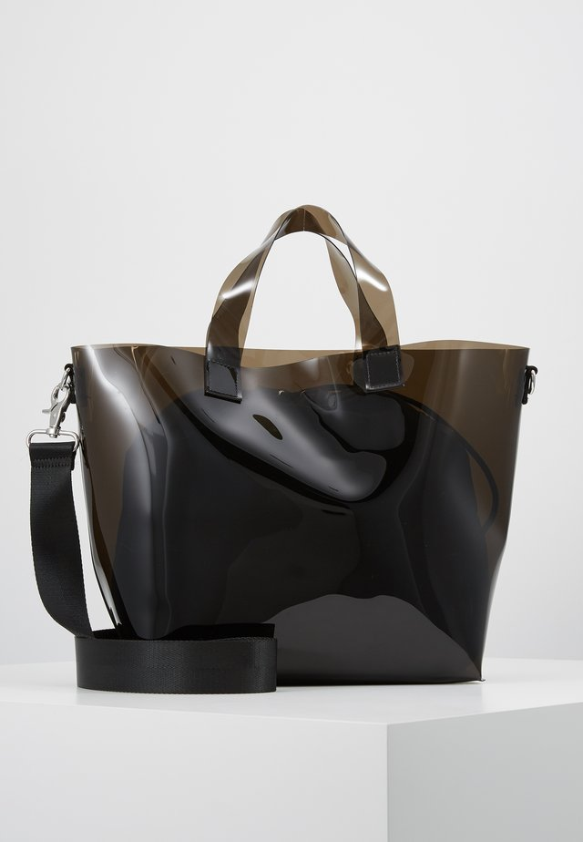 SEA TRANSPARENT BAG - Käsilaukku - black