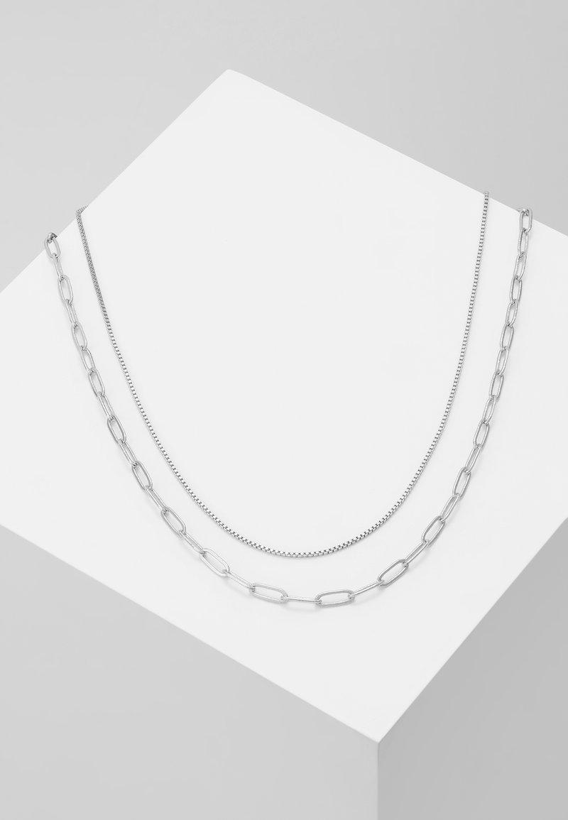 Weekday - CONTRAST NECKLACE 2 PACK - Naszyjnik - light silver-coloured