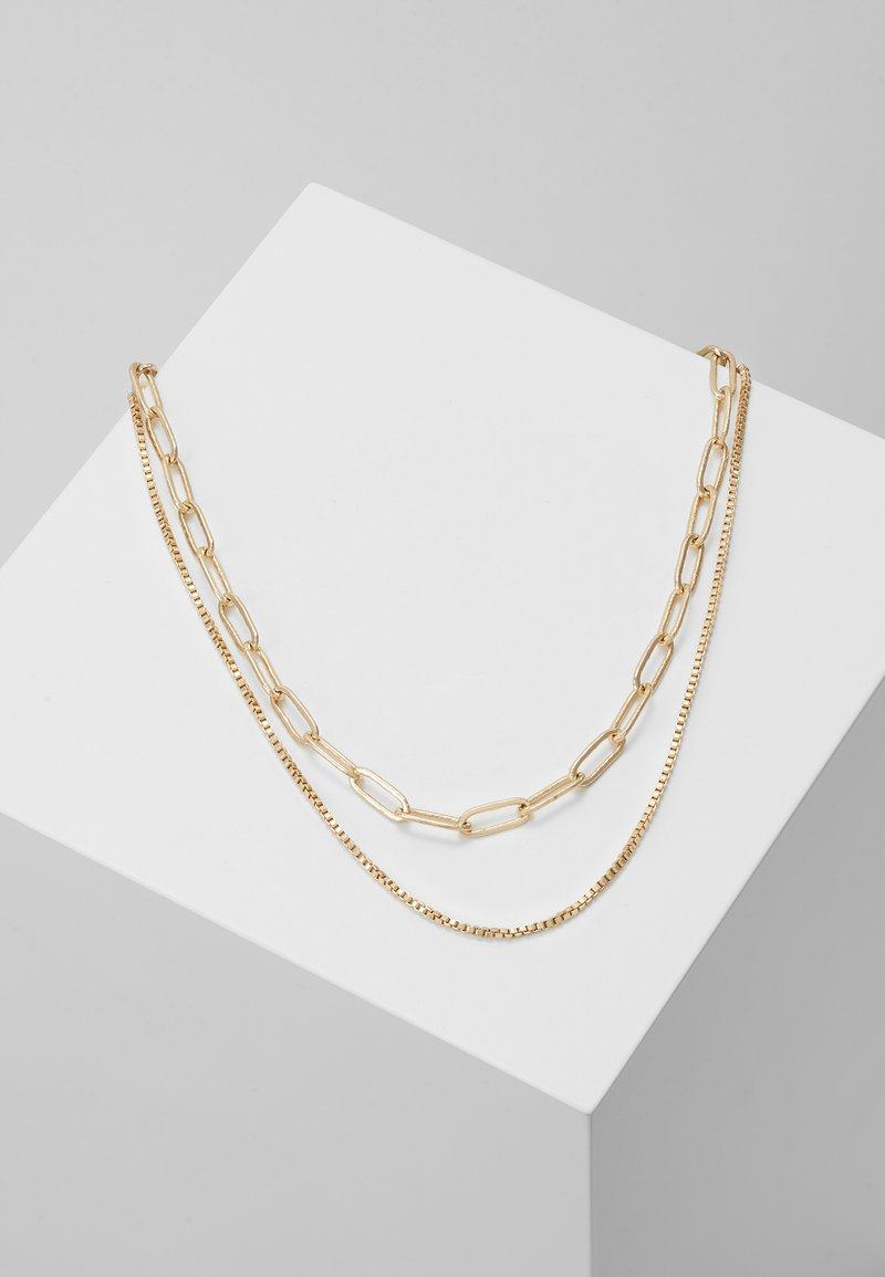 Weekday - CONTRAST NECKLACE 2 PACK - Halskette - light silver-coloured