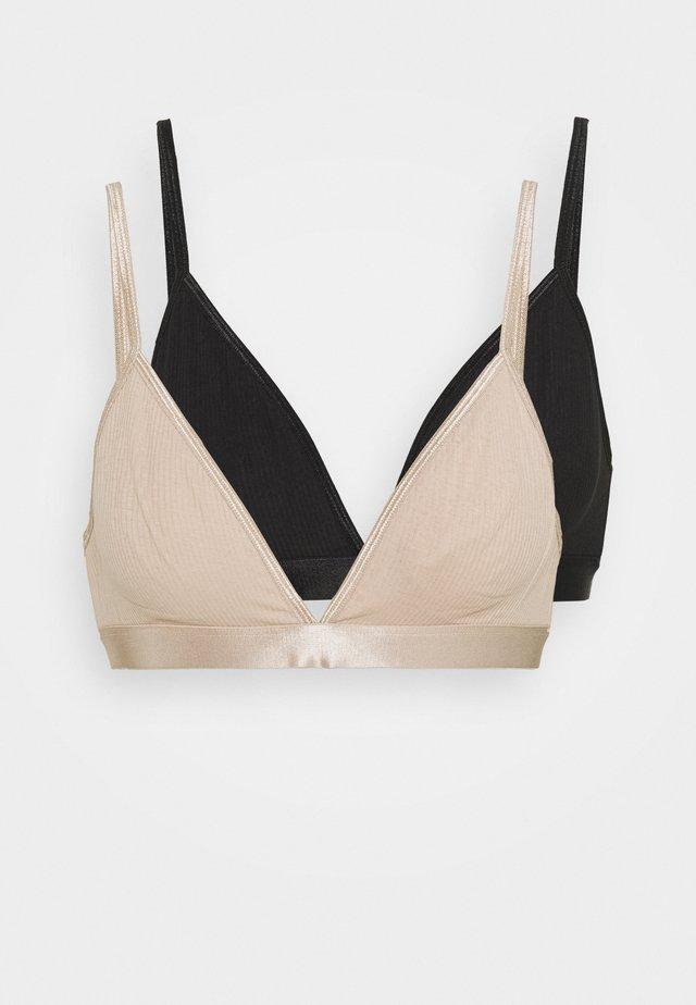 AURORA SOFT BRA 2 PACK - Triangel-bh - black/nude