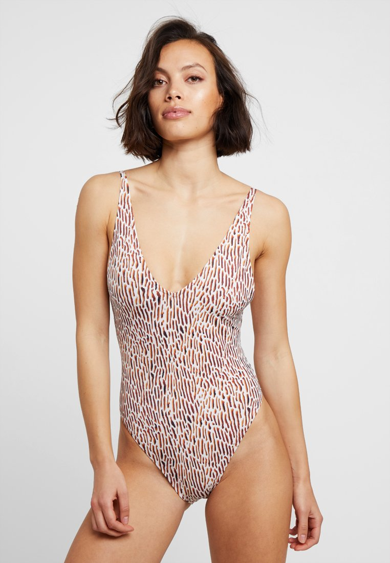 Weekday - AVERY SWIMSUIT - Swimsuit - brown