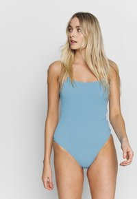 Weekday - SUN STRUCTURE SWIMSUIT - Maillot de bain - lilac/blue - 1