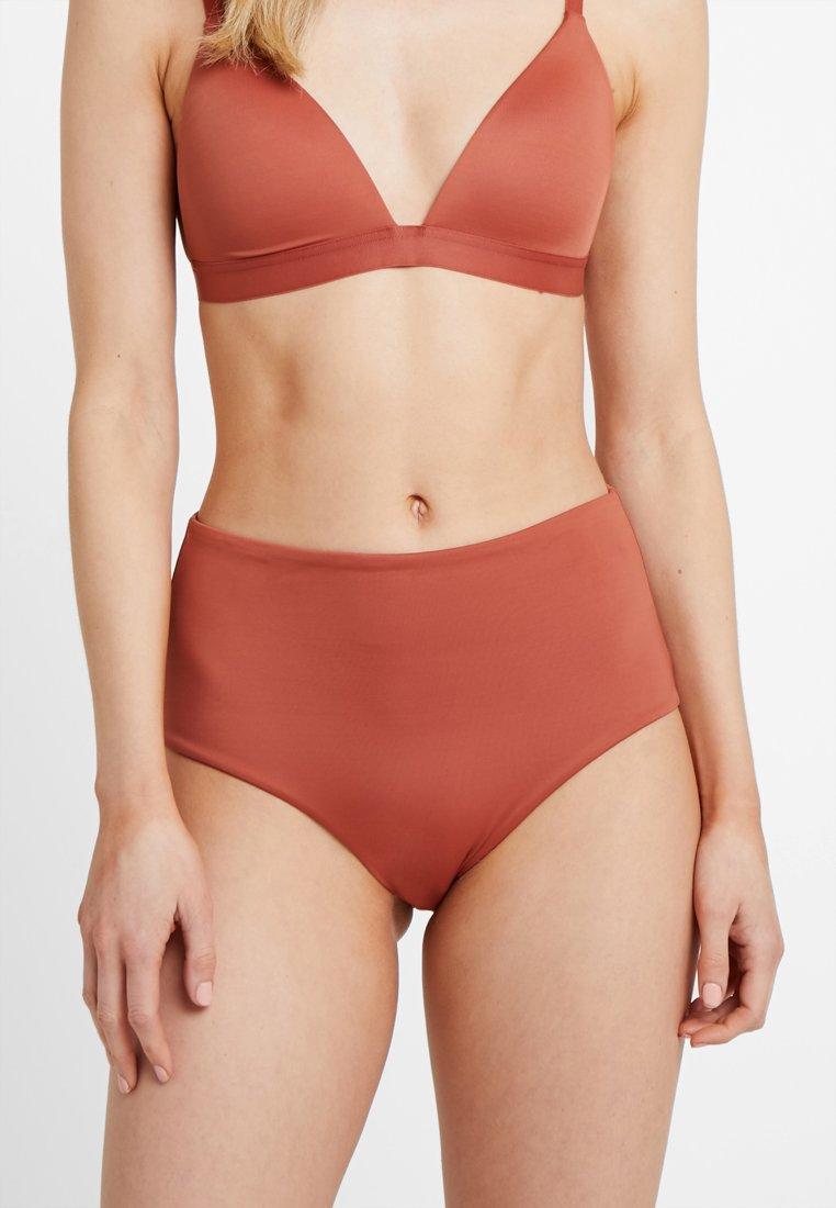 Weekday - GAZE SWIM HIGH WAIST BOTTOM - Bikinibroekje - orange dark