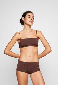 Weekday - AVA BOTTOM - Bikini bottoms - dark brown - 1