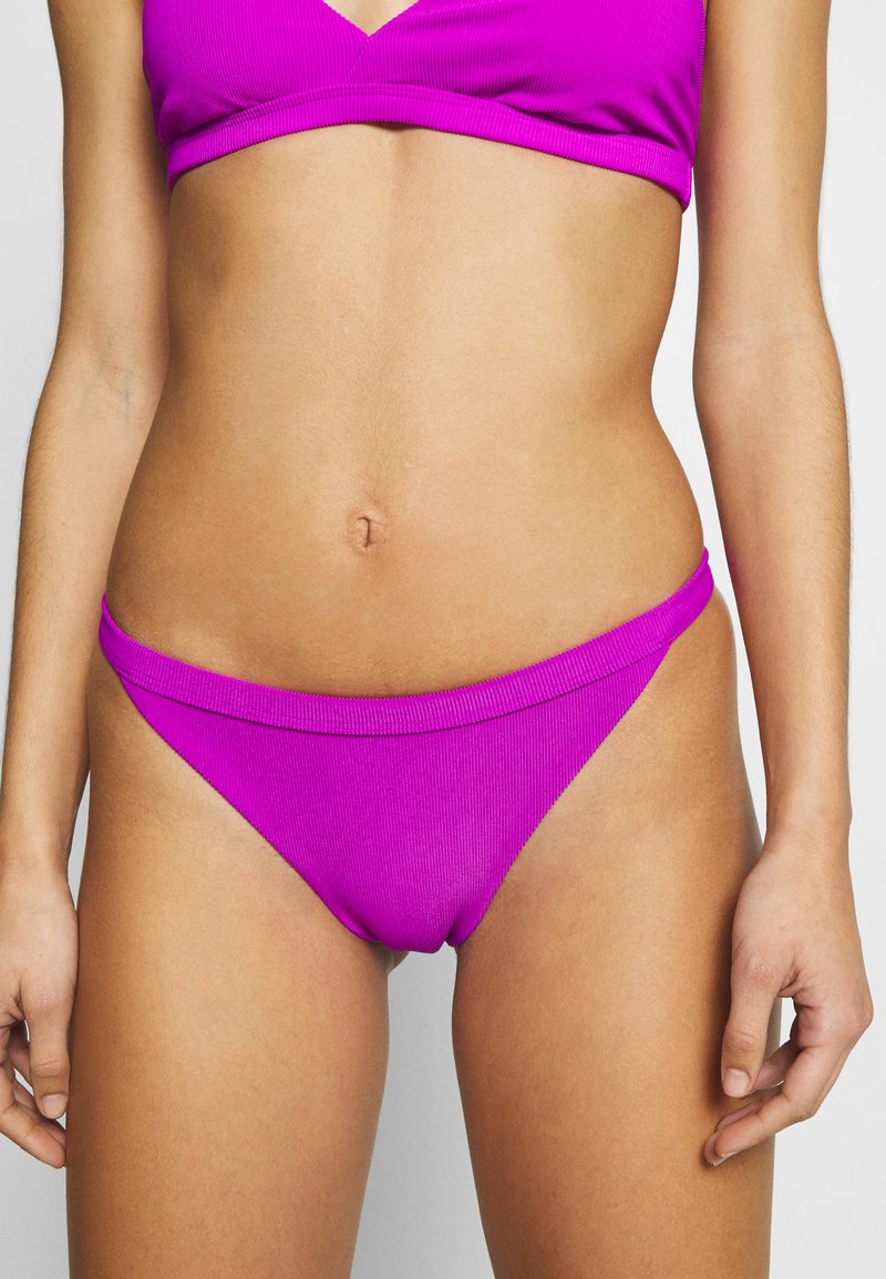 Weekday - FARAWAY RIBBED SWIM BOTTOM - Bikinibroekje - purple