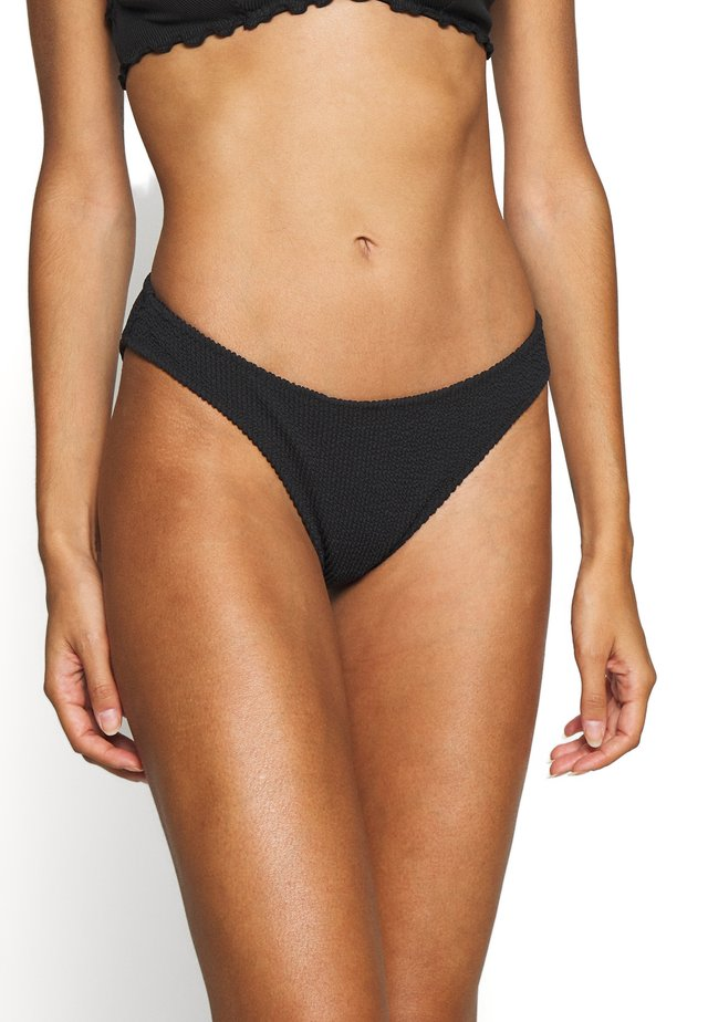 SUNNY STRUCTURE SWIM BOTTOM - Bikinibroekje - black