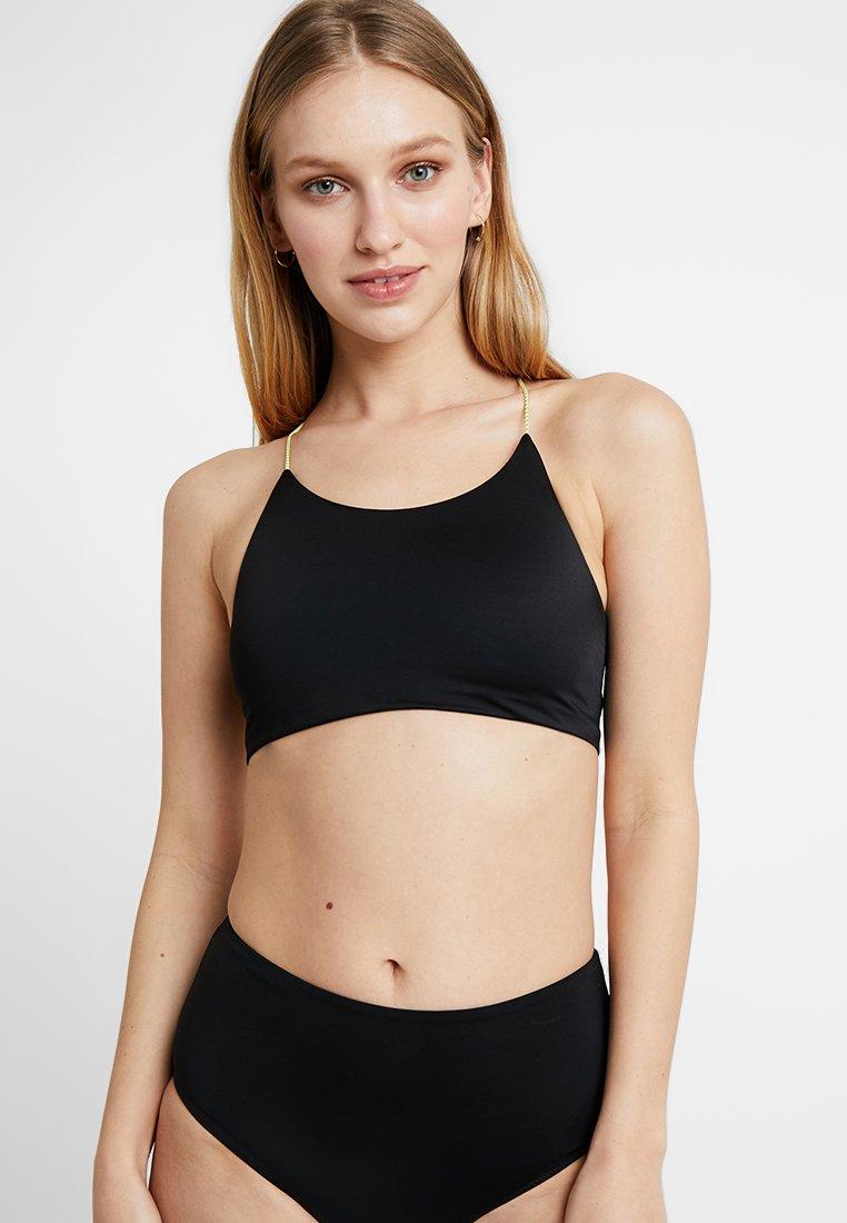 Weekday - AQUA SWIM - Bikiniöverdel - black/yellow
