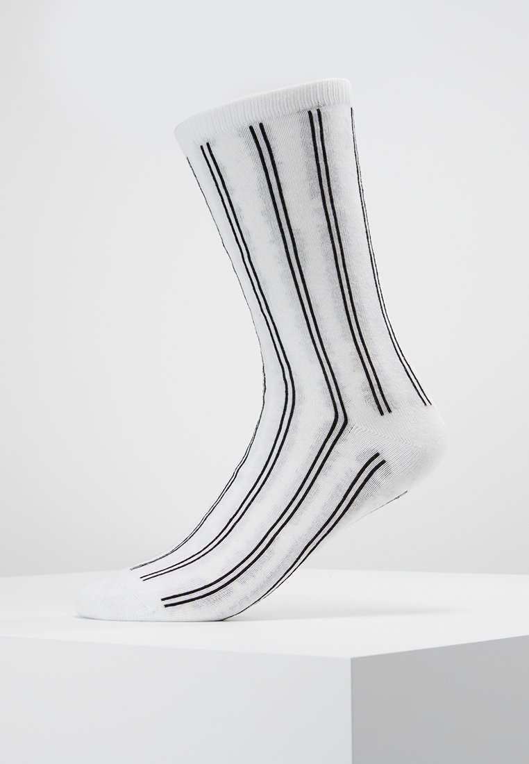 Weekday black SocksChaussettes White Jaquard Feet w0X8nOkP
