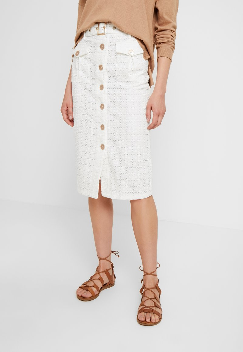 We are Kindred - LULU PENCIL SKIRT - Pencil skirt - white