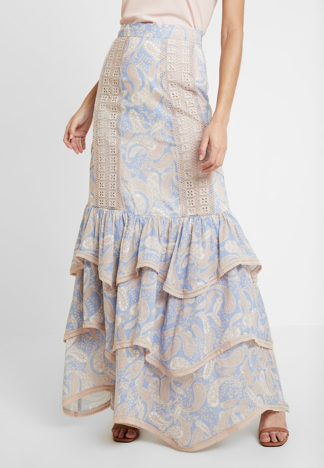 SORRENTO SKIRT - Maxi skirt - cornflower