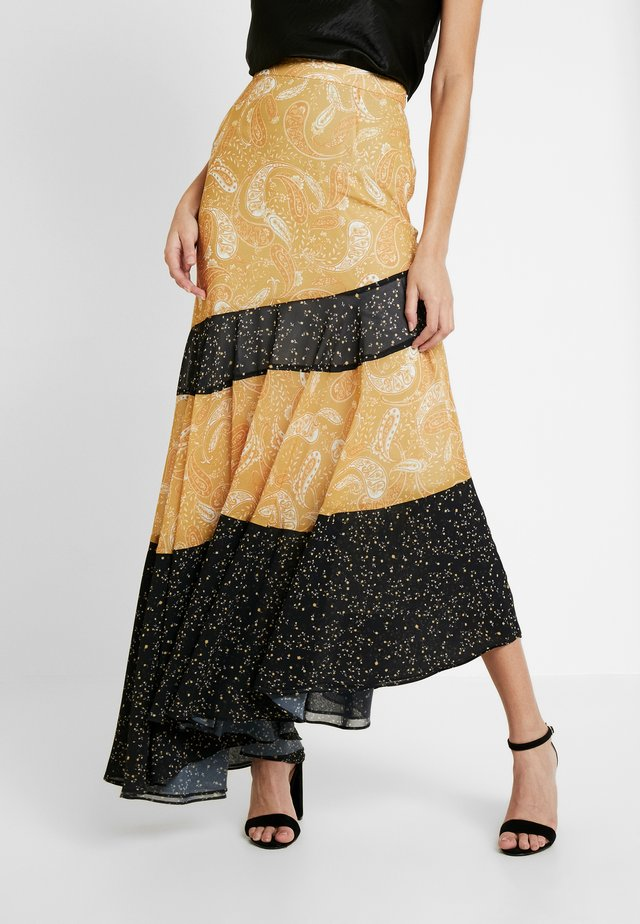 AMALFI ASYMMETRIC SKIRT - Maxi skirt - spliced sunflower