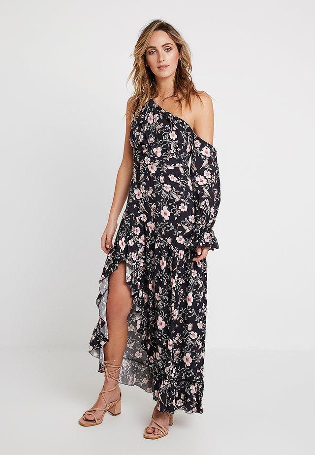 HARPER ASYMMETRIC DRESS - Maxi dress - black/pink