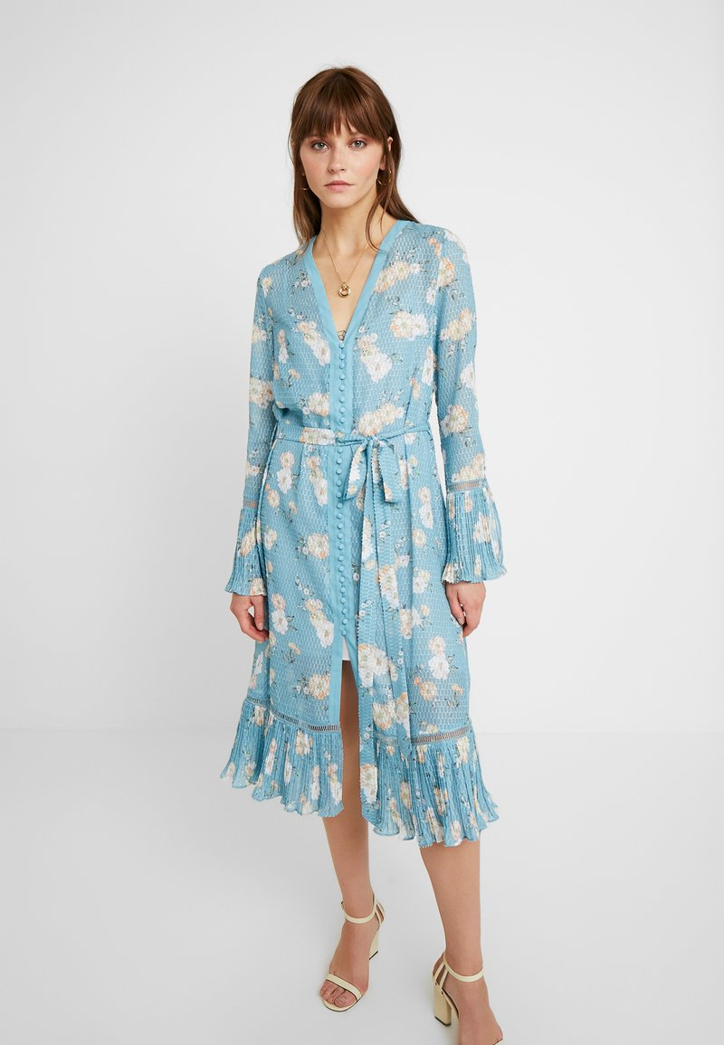 We are Kindred - MIA DRESS - Skjortekjole - teal posey