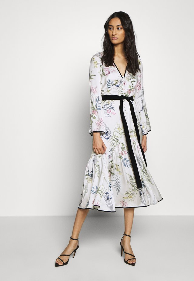 ELOISE BUTTON THROUGH DRESS - Shirt dress - ecru delphinum
