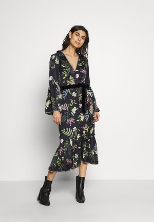 ELOISE BUTTON THROUGH DRESS - Shirt dress - black delphinum