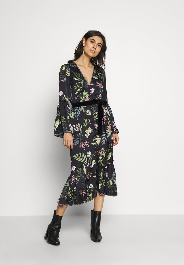ELOISE BUTTON THROUGH DRESS - Shirt dress - black delphinum