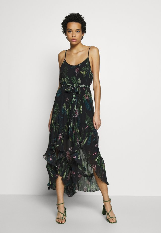 FRANKIE PLEATED DRESS - Maxi-jurk - black delphinum